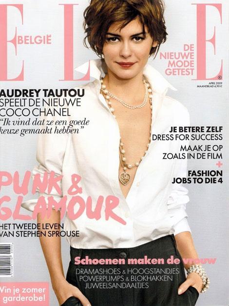 Audrey Tautou's Elle Belgium April