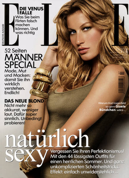 Gisele Bundchen Elle Germany July 2009