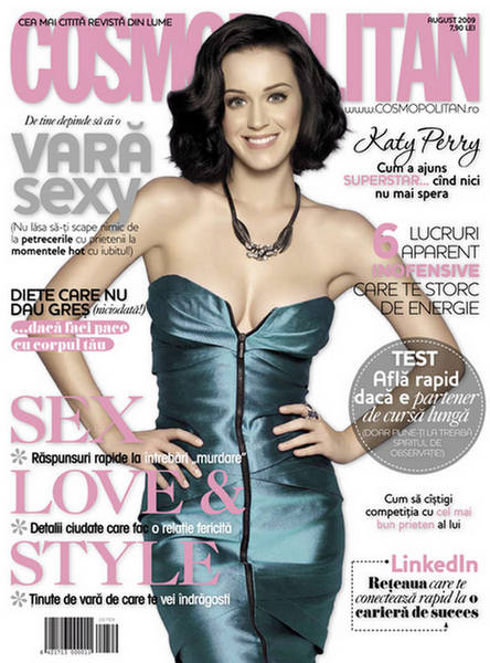 Katy Perry Cosmopolitan Romania August 2009