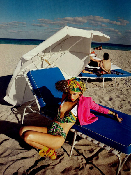 Miami Heat- Masha Novoselova in UK Harper's Bazaar July 20097