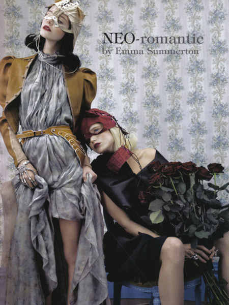 NEO-Romantic- Imogen Morris Clarke and Abbey-Lee Kershaw in Vogue Italy June 20091