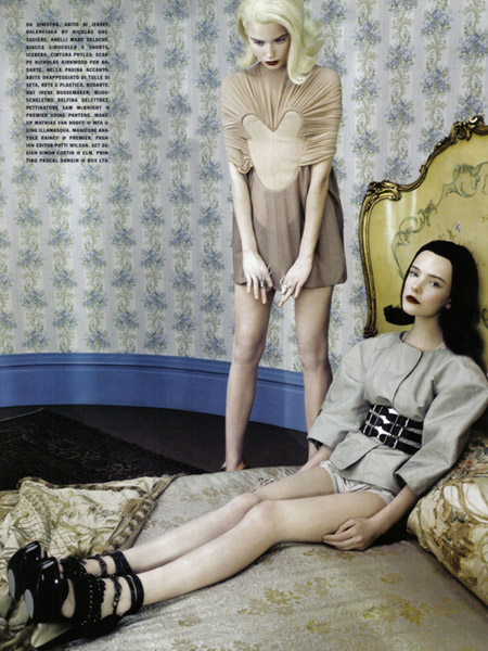 NEO-Romantic- Imogen Morris Clarke and Abbey-Lee Kershaw in Vogue Italy June 20099