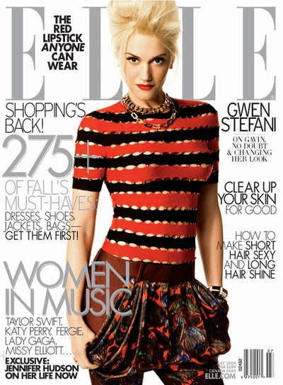 SUNDAY, JUNE 14, 2009  Gwen Stefani for Elle July 2009