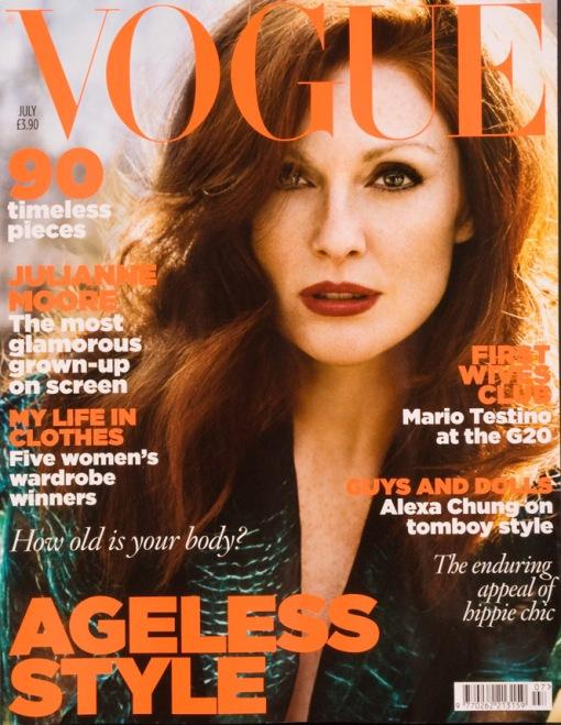 UK Vogue July 2009- Julianne Moore by Alasdair McLellan
