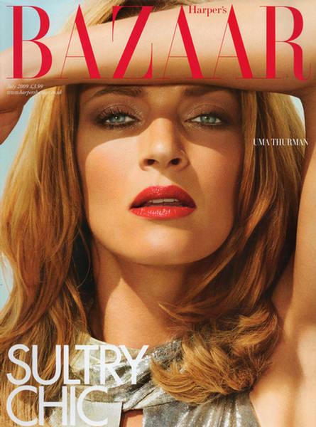 Uma Thurman Harper's Bazaar UK July 2009