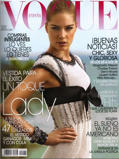 Vogue España Junio 2009- Doutzen Kroes en Chanel by Alex Cayley