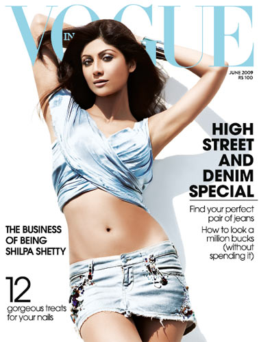 Vogue India Junio 2009- Shilpa Shetty